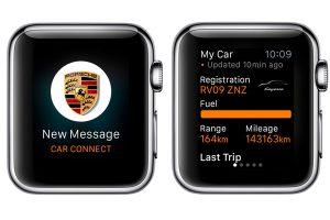Tampilan aplikasi Porsche Connect