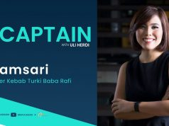 The Captain with Founder Kebab Turki Baba Rafi – Nilamsari