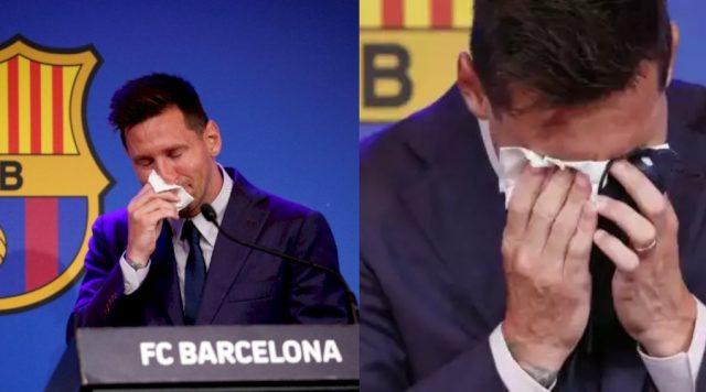 Tisu Bekas Air Mata Lionel Messi Saat Berpisah Dari Barcelona Dijual Rp 14 Miliar